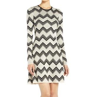 BCBGMAXAZRIA -Keeley Zigzag Jacquard sweater dress