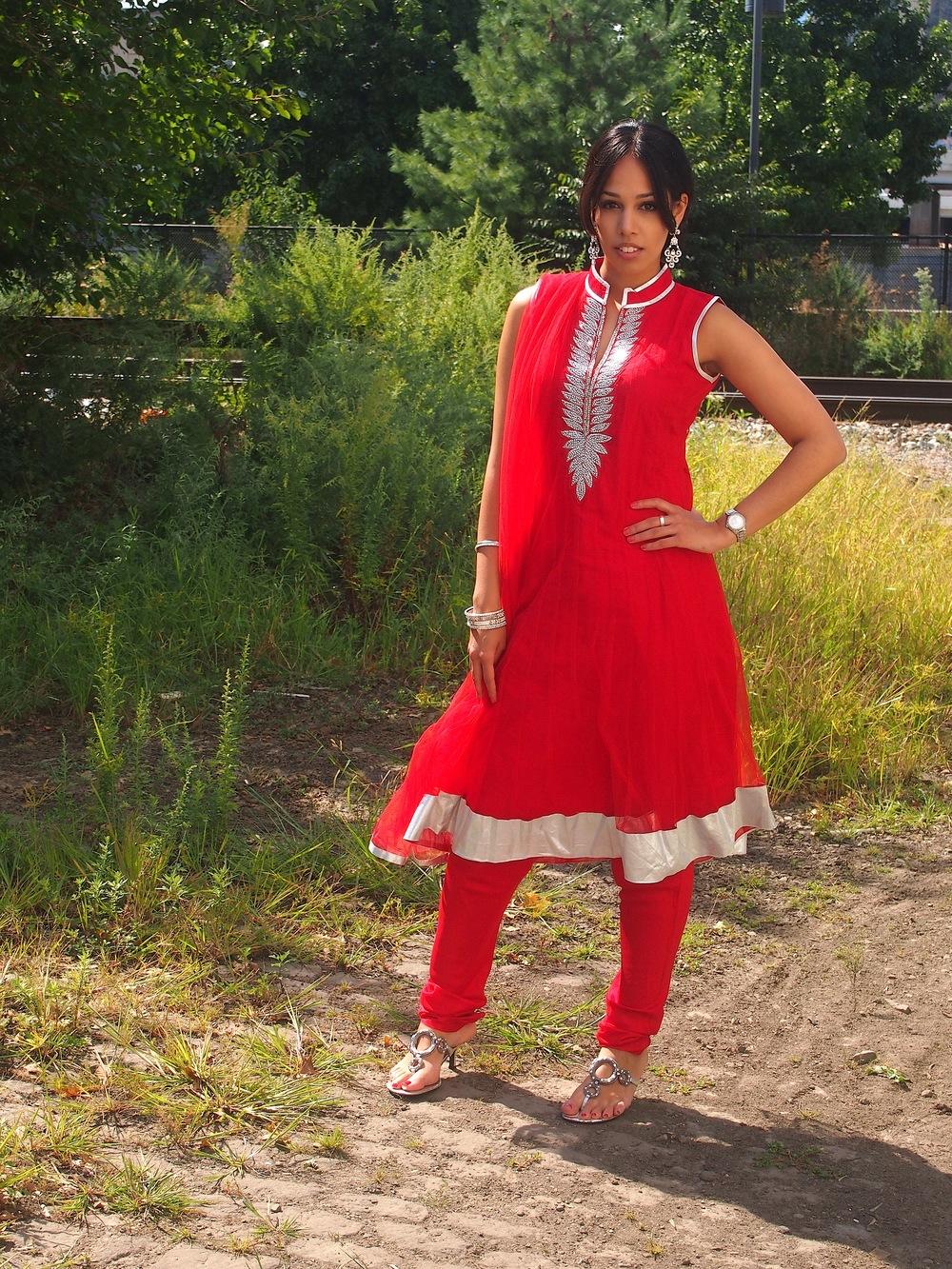 Sharan Red Anarkali.JPG