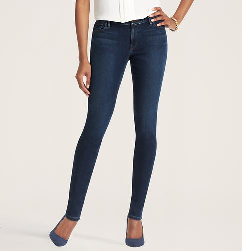 Loft Super Skinny Jeans in Glacial Lake Blue