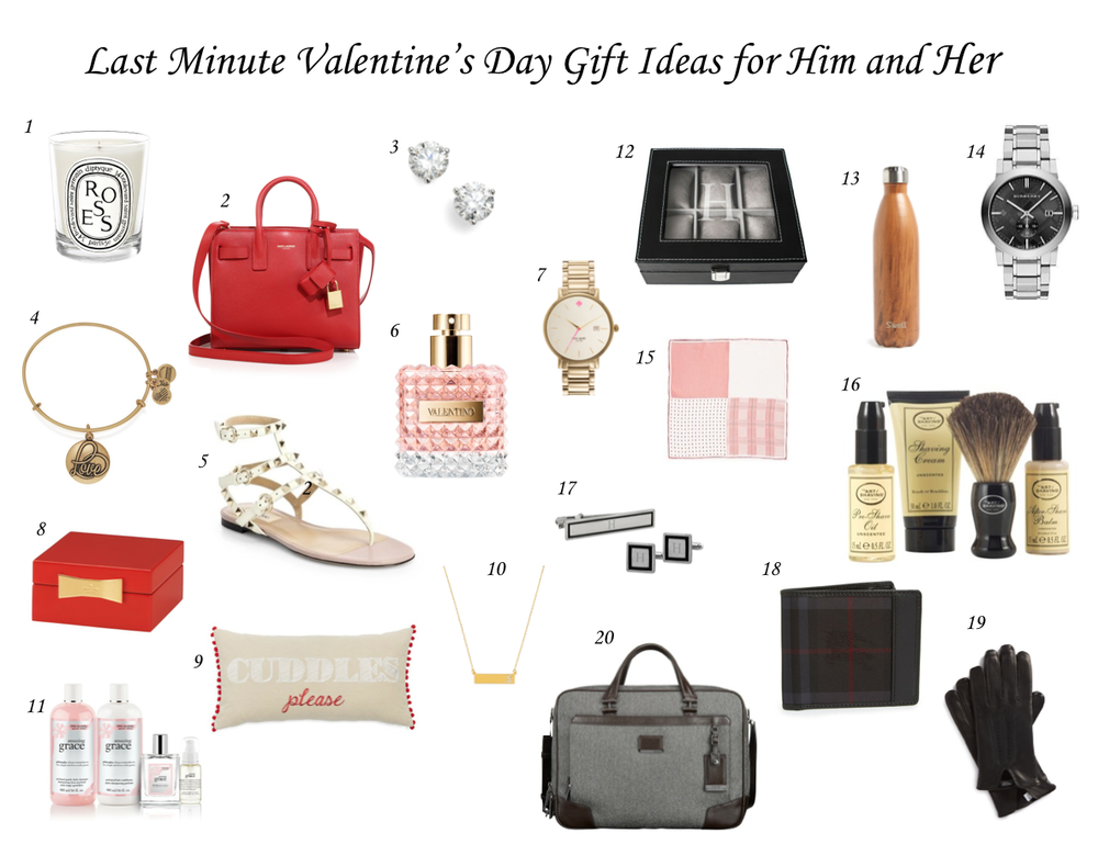 Last minute valentine 39 s day gift ideas for him and her for Valentine day gifts for her ideas