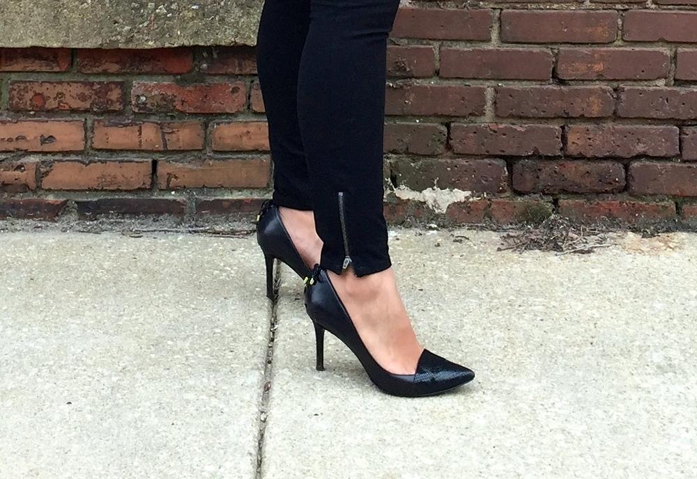 Zip Ankle Pants High Heels