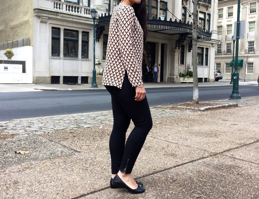 Zara Geometric Blouse Spring Fashion