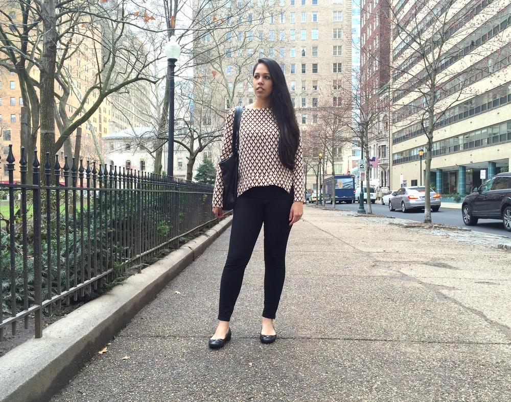 Zara Geometric Blouse Spring Fashion