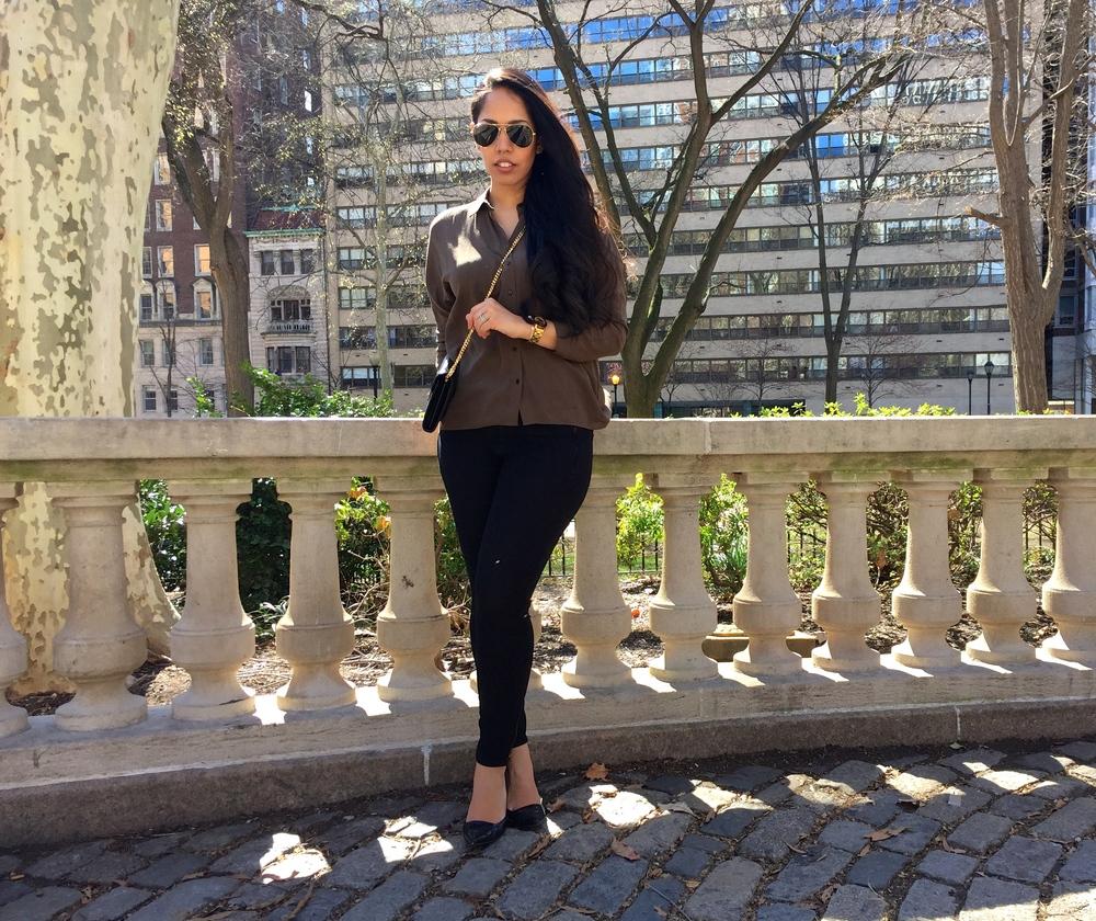 Olive Blouse Spring Fashion