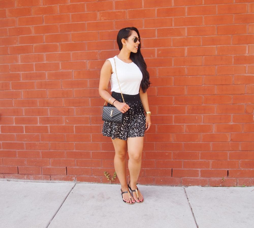 Zara Print Bermuda Shorts