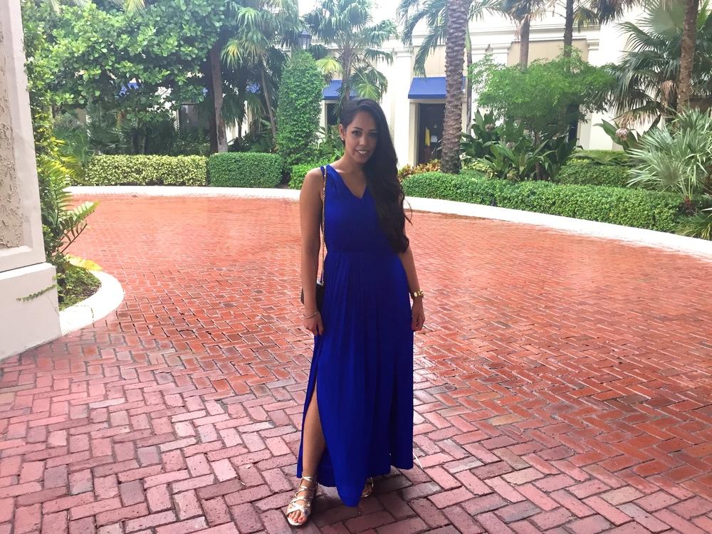 Blue Goddess Maxi Dress