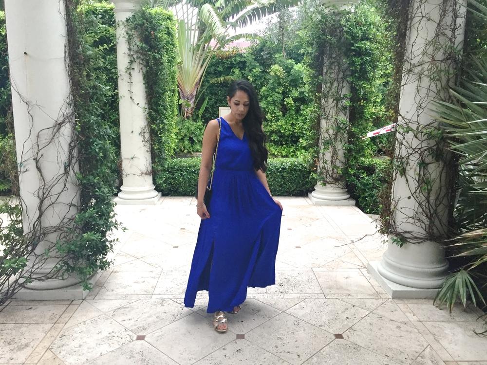 Silk Blue Maxi Dress