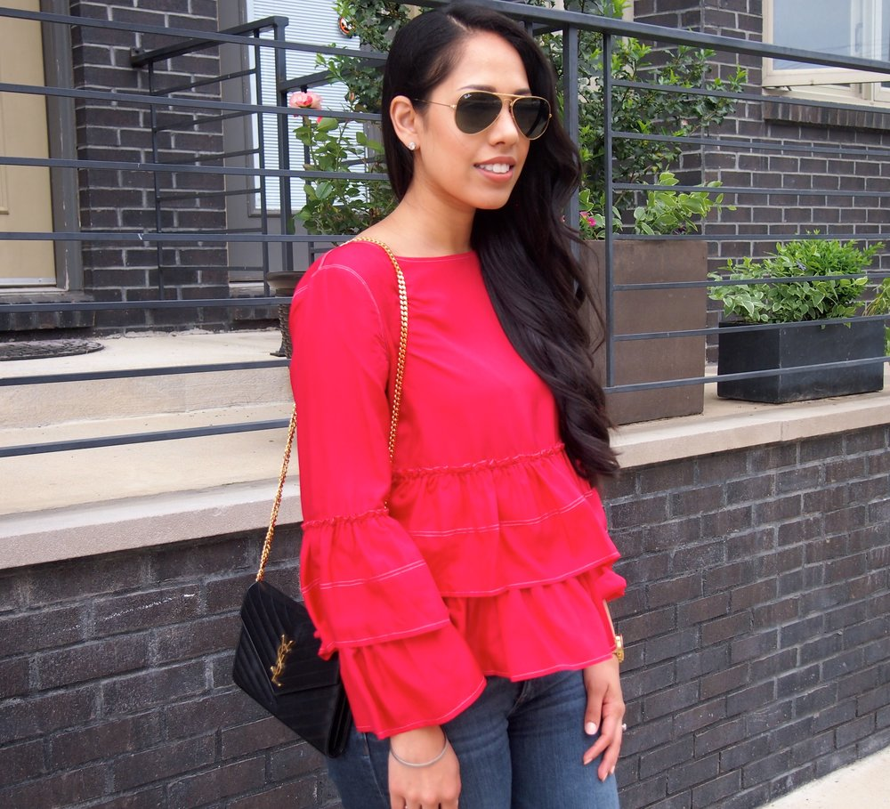 Club Monaco Red Blouse