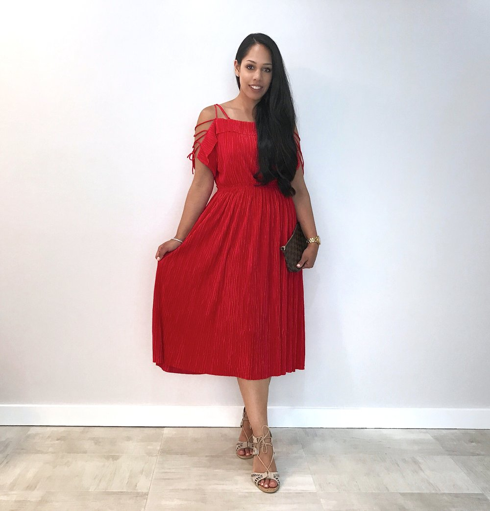 Red Midi Dress — My Golden Beauty