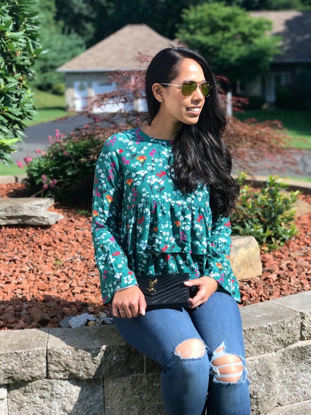 Zara-floral-blouse