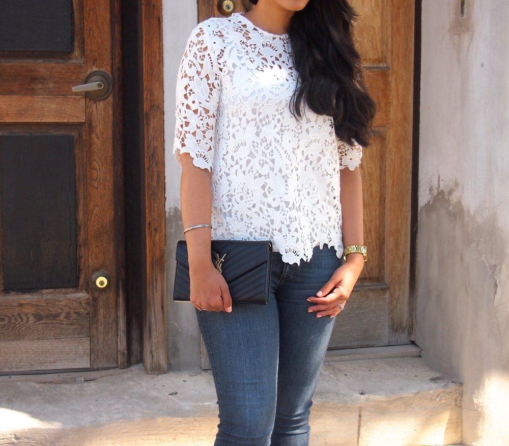 Zara-White-Lace-Top