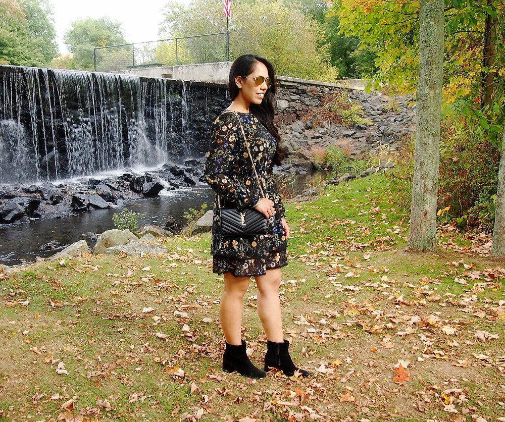 floral-midi-dress-booties-fall-fashion-new-england