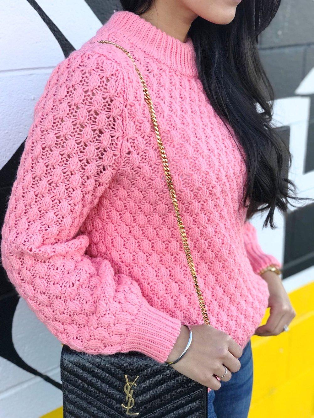 H&M-pink-knit-sweater