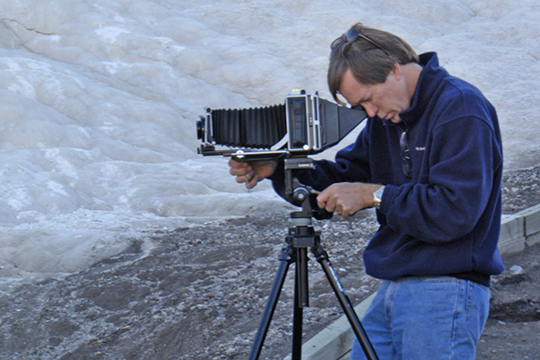 Michael photographing in Yellowstone