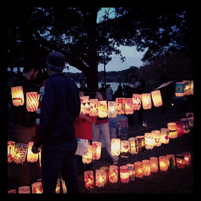 The lanterns at Jamaica Pond
