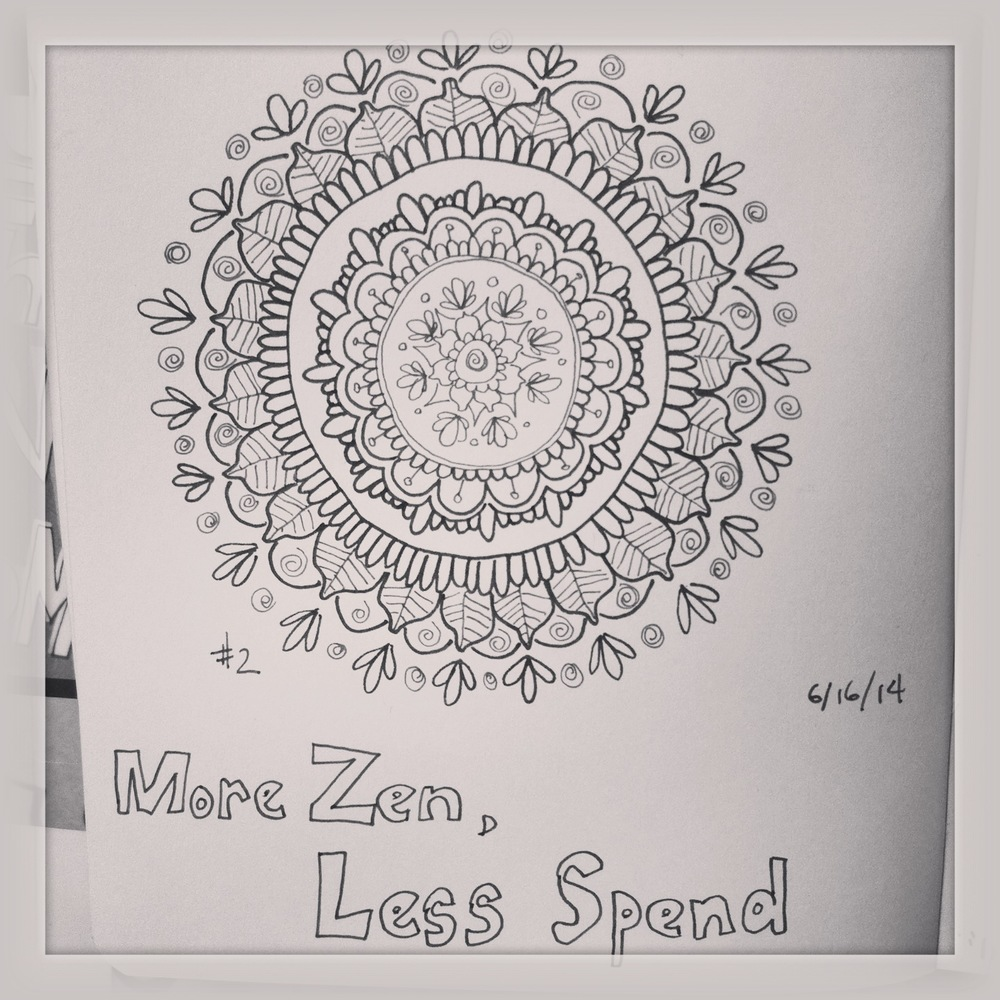 My second mandala design. I will be doing these during my thirty days.