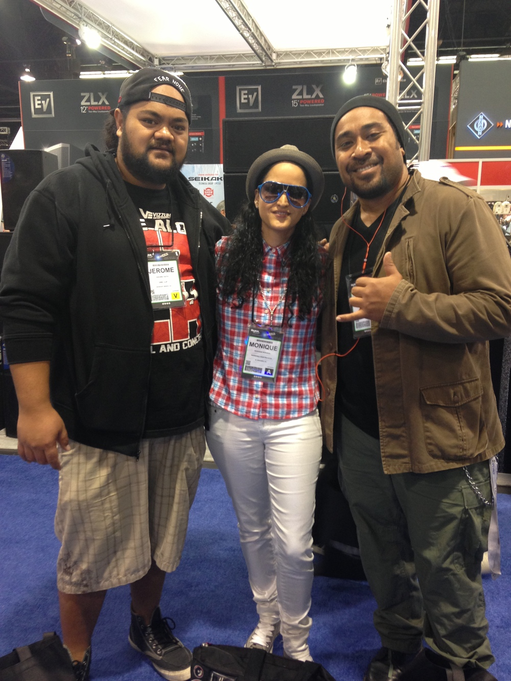 NAMM 2013 WITH AEOMPR FAMILY...COMMON KINGS & DIAMONIQU