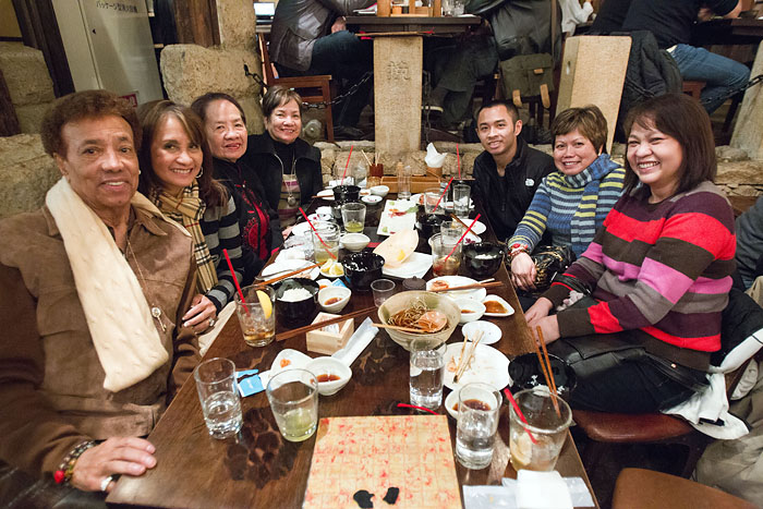 Say hello to some of my family members visiting in Tokyo