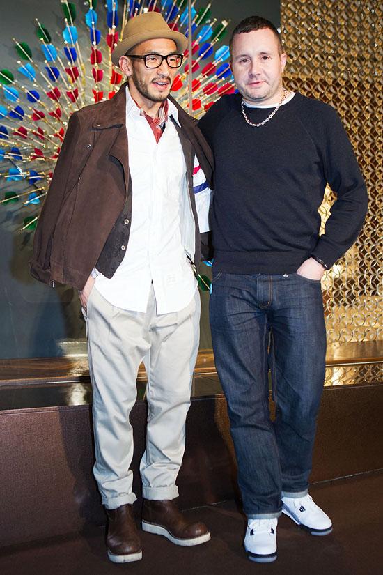 Hidetoshi Nakata and Kim Jones at Louis Vuitton Tokyo