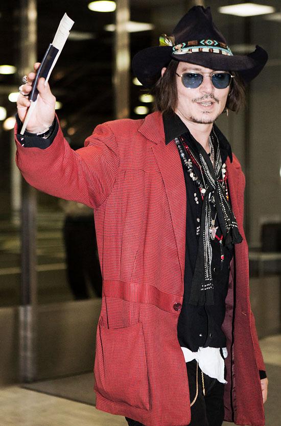 Johnny Depp Arrives in Japan