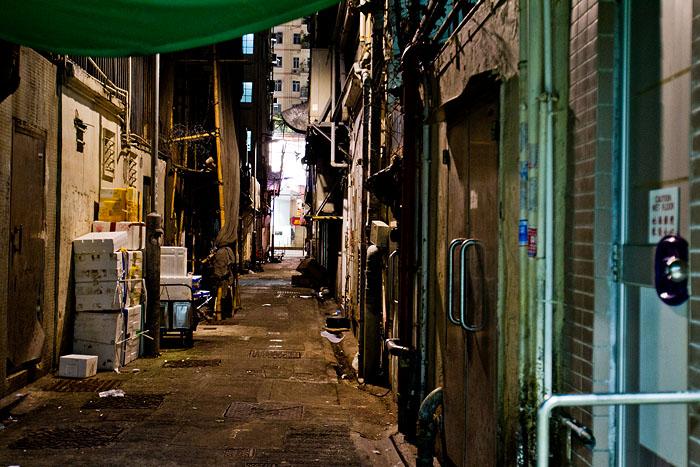 Rugged alleyway