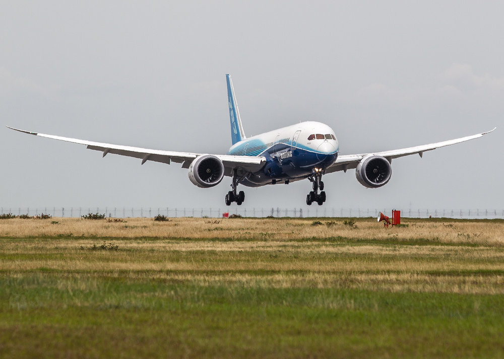 787 Dreamliner shot for Boeing