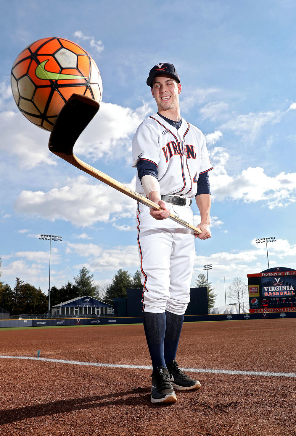 Virginia second baseman Ernie Clement was recruited for baseball after also playing soccer and hockey in high school.