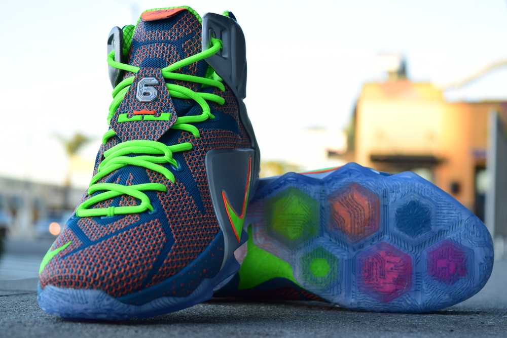Nike Lebron 12 Trillion Dollar Man Electric Green Private