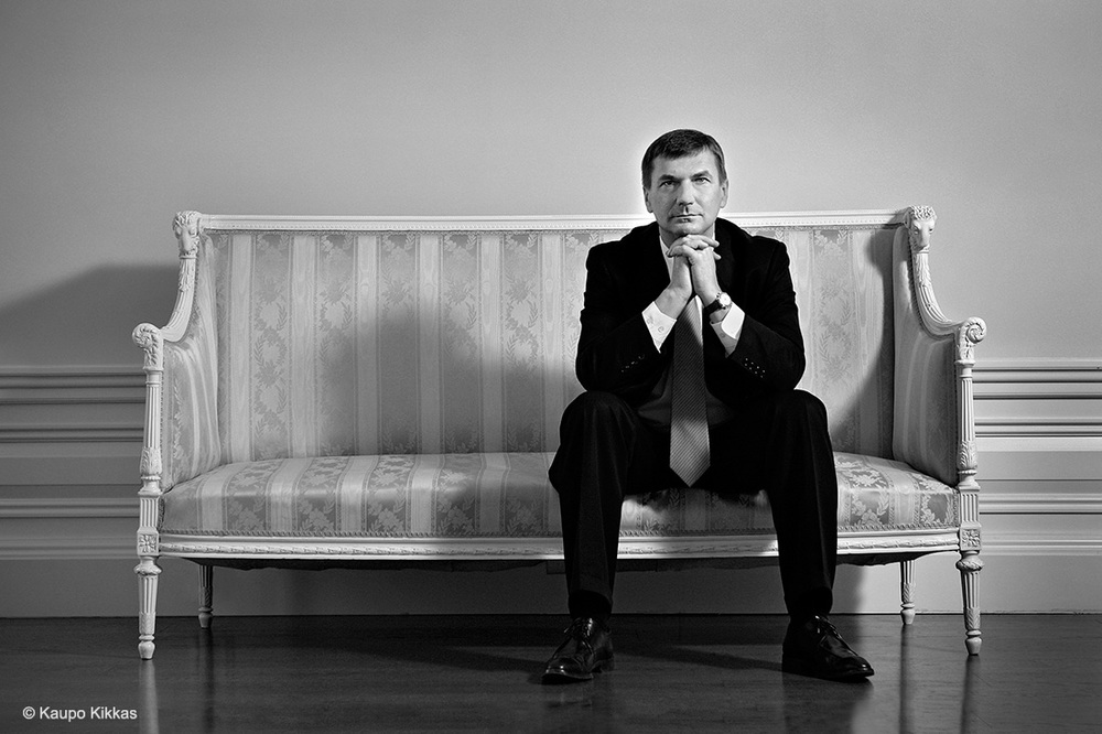 First day in a cabinet. Prime Minister Andrus Ansip