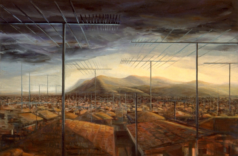 Janaki Lennie,  View From Leach Highway to Mt Dryden  (1992)