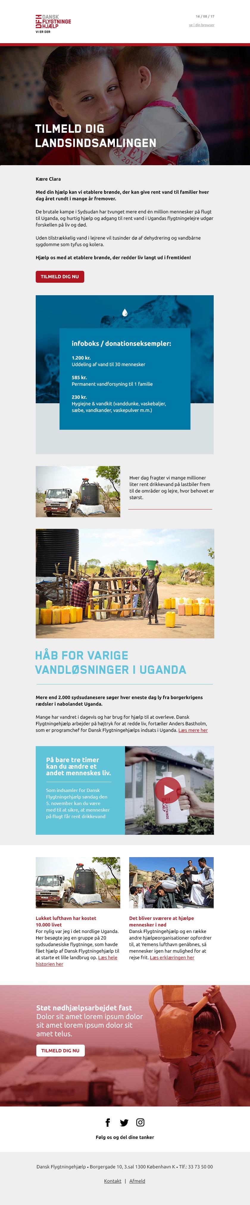 Dansk Flygtningehjælp emailtemplate