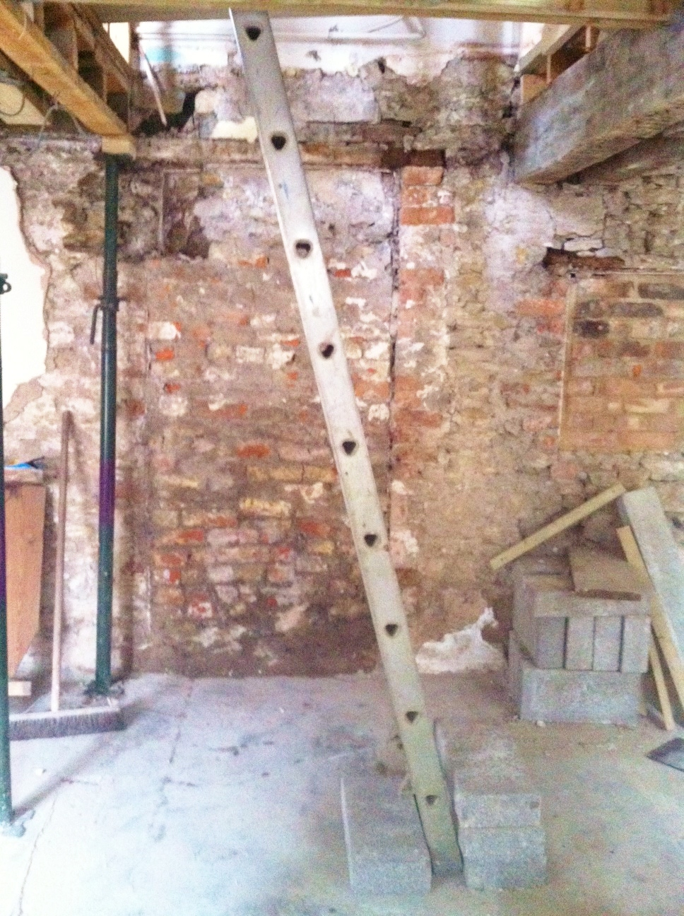 Staircase removed...