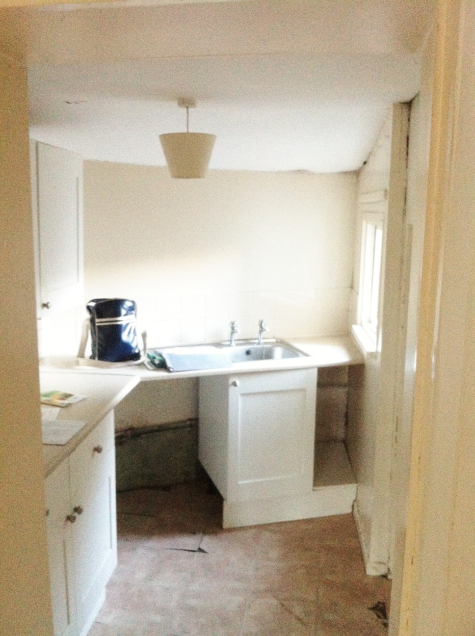 Original kitchen extension, now you see it...