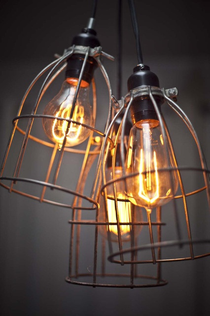 Vintage wire lighting