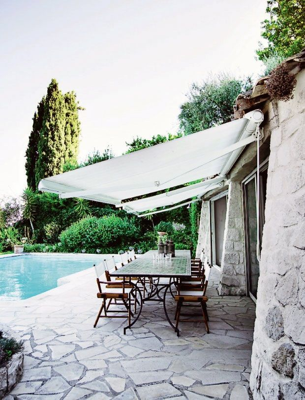 A shady retreat under retractable canopies...