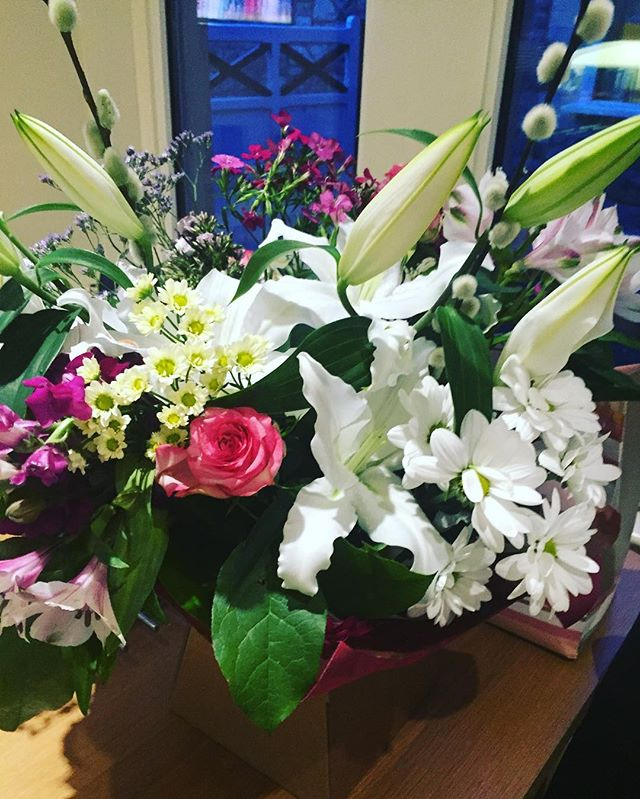Thank you boys at Warminster Reserves for my beautiful flowers ❤️