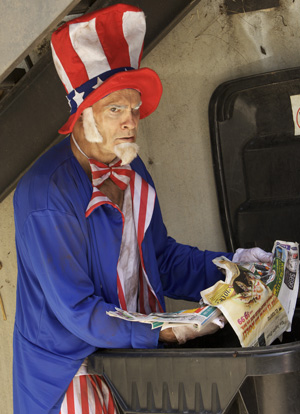If Uncle Sam is reading PARADE magazine, we're all screwed. Photo by Heidi May.