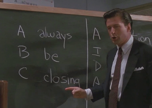 This is why I never wanted a real job. Alec Baldwin in  Glengarry Glen Ross: The Motion Picture .