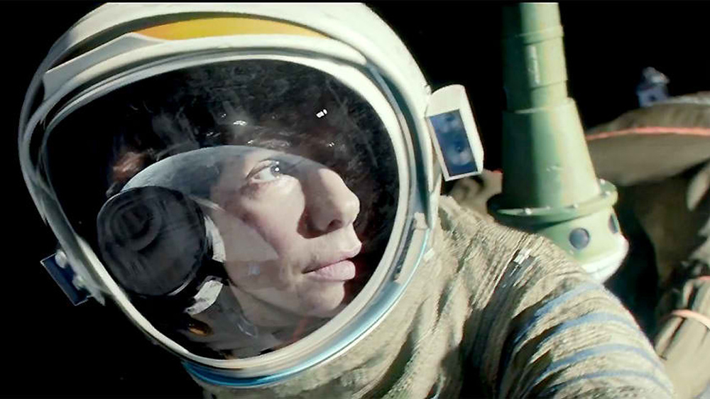 Sandra Bullock in  Gravity .