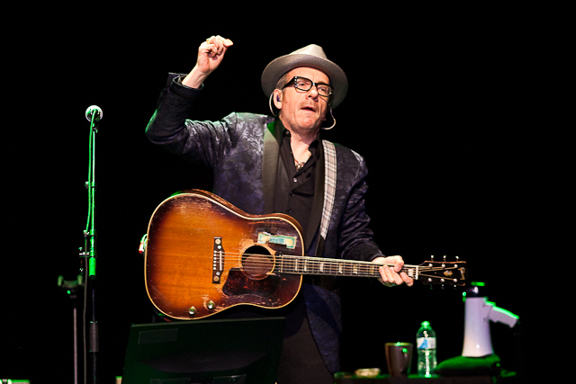 Elvis Costello at Lisner Auditorium, Friday, Nov. 22, 2013. (Francis Chung for DCist)
