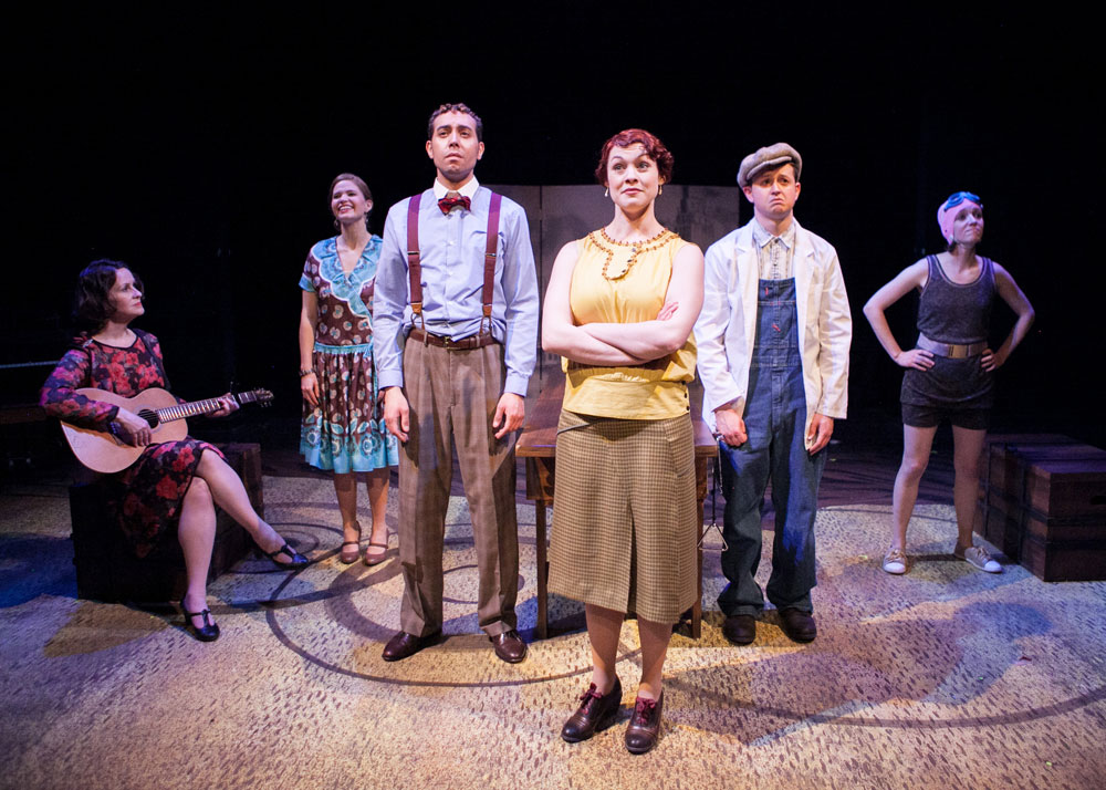 Rose McConnell, Maggie Erwin, Michael Kevin Darnall, Carolyn Kashner, Chris Stinson, and Tia Shearer in  Failure  (Helen Pafumi)