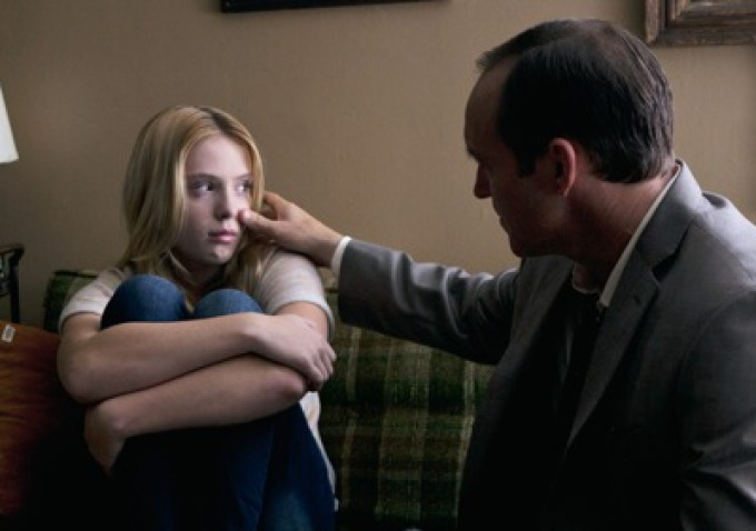 Saxon Sharbino and Clark Gregg in Trust Me, which Gregg wrote and directed.