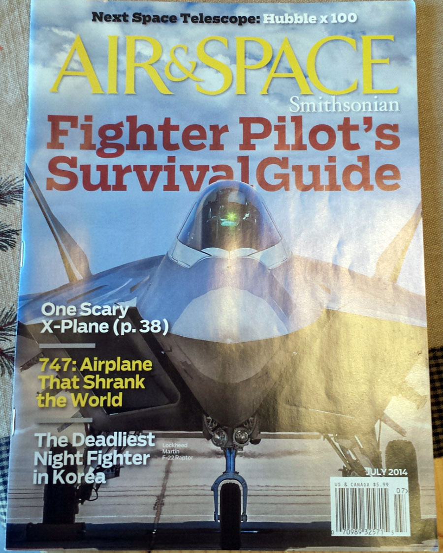 The July 2014 Air & Space, with my James Webb Telescope feature, is available May 27 at a Barnes & Noble near you.