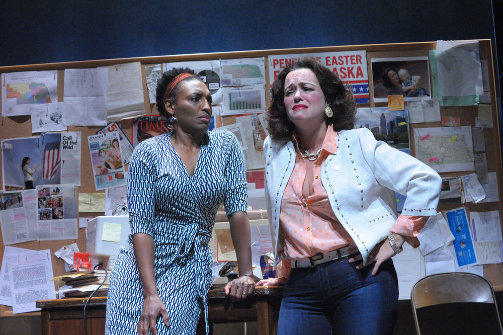 Dawn Ursula and Emily Townley in The Totalitarians. (Stan Barouh)