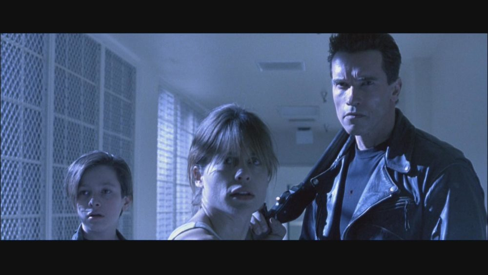 Nuclear Family: Eddie Furlong, Linda Hamilton, and Arnold Schwarzenegger fight the future in  Terminator 2: Judgment Day.