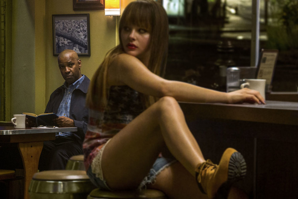 Nighthawks at the Diner: Denzel Washington & Chloe Moretz in  The Equalizer .