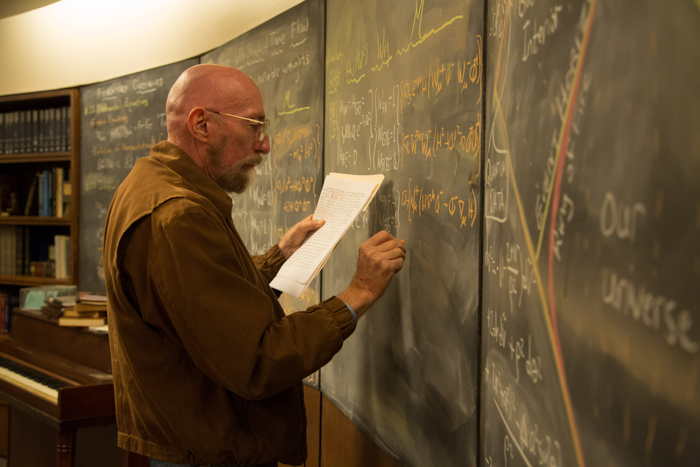 Kip Thorne on the set of  Interstellar . (Paramount/Warner Bros./Legendary Pictures)