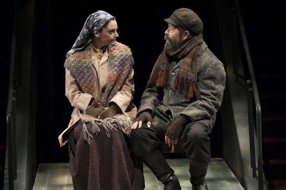 Hannah Corneau as Hodel & Jonathan Hadary as Tevye in Arena's Fiddler .(Margot Schulman)