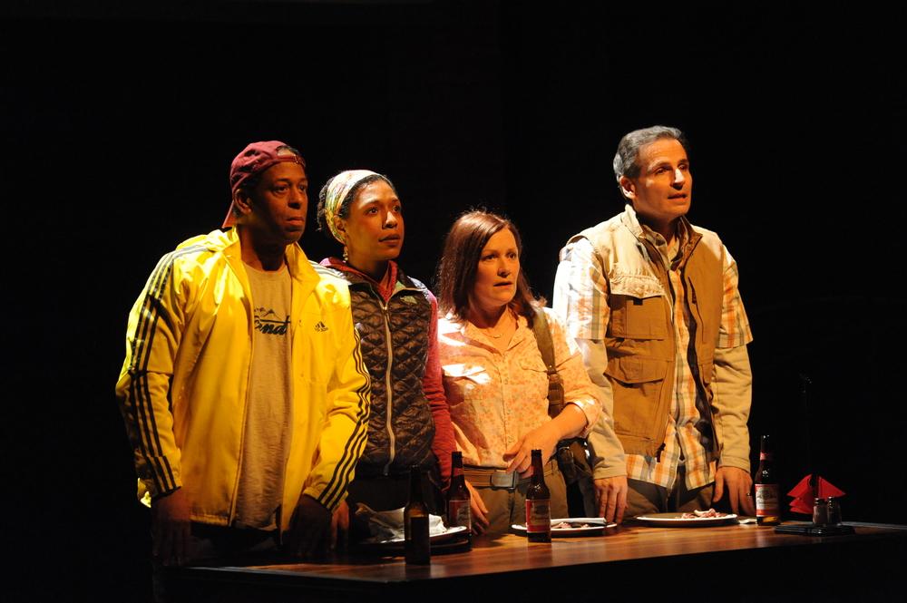 Thomas W. Jones II, Erica Chamblee, Jennifer Mendenhall, and Paul Morella in  Cherokee .