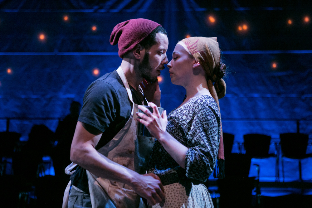 Jon Hudson Odom and Laura C. Harris in  Passion Play.  (C. Stanley Photography/Forum Theatre)